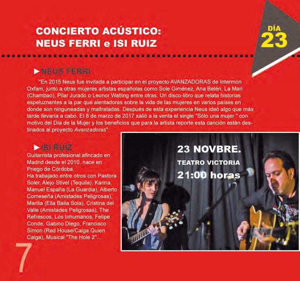 97bdebbcd39 Concierto acústico Neus Ferri e Isi Ruiz. Pulse para ampliar.